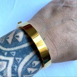 J. Crew Goldtone Hinged Bangle Bracelet